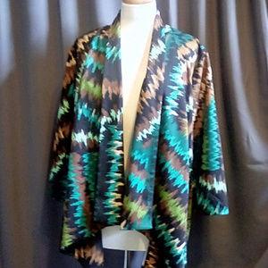 Travel Elements Size 1X zig zag colorful jacket